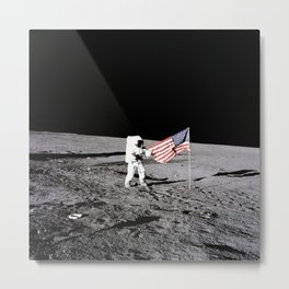 Moonwalk and American Flag, 1969 Metal Print