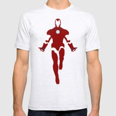 Mr. Stark (Iron Man) Mens Fitted Tee SMALL Ash Grey