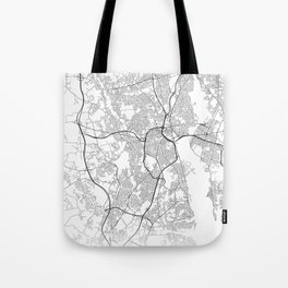 Minimal City Maps - Map Of Providence, Rhode Island, United States Tote Bag