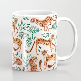 Cheetah Collection – Orange & Green Palette Coffee Mug