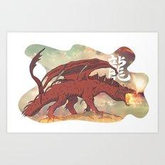 Fantasy Dragon Art Print