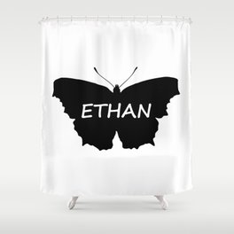 Ethan Butterfly Shower Curtain