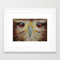 hawk Framed Art Prints featuring Hawk by unkz87