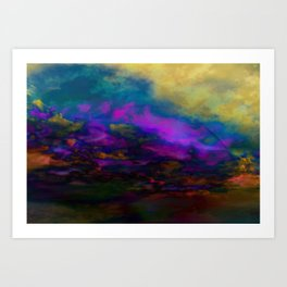 deep purple sky Art Print