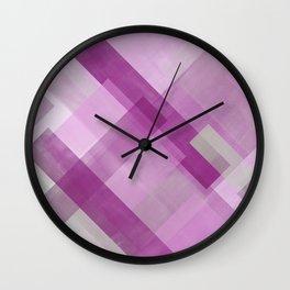 Untitled No. 4   Fuchsia Wall Clock