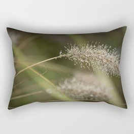 Dew on Ornamental Grass, No. 1 Rectangular Pillow