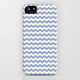 Blue & Cream Summer Chevron Pattern iPhone Case