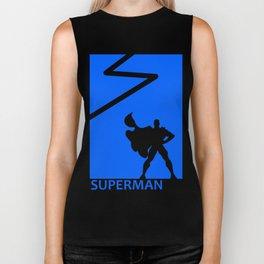 Super Man Poster Biker Tank