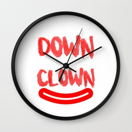 Come on down with the clown Wall Clock