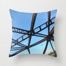 Bridge in Mpls Throw Pillow