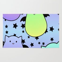 Pop Colour Bat Cats Rug