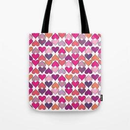 colerfull hearts Tote Bag