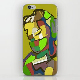 Woman with scarf iPhone Skin