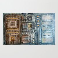 cityscape Area & Throw Rugs featuring Cityscape by Maureen Mitchell