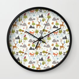 Funny Forest Map Wall Clock