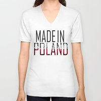 poland V-neck T-shirts featuring Made In Poland by VirgoSpice