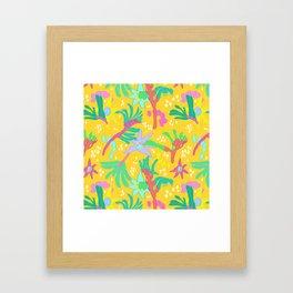 Australian Kangaroo Paw Floral in Golden Mango Framed Art Print