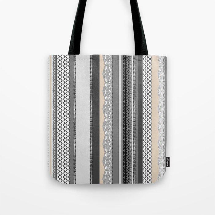 Beach House Stormy Grey Tote Bag