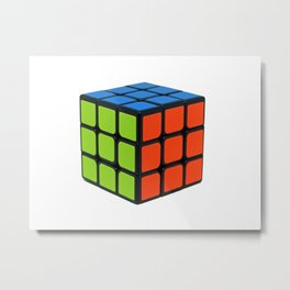 Colorful Cube Metal Print