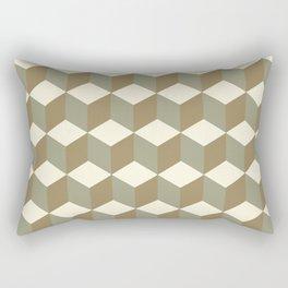 Diamond Repeating Pattern In Meerkat Brown and Grey Rectangular Pillow