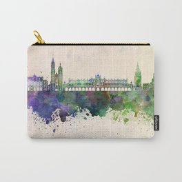 Krakow skyline in watercolor background Carry-All Pouch