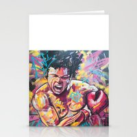 ali gulec Stationery Cards featuring Ali by somanypossibilities