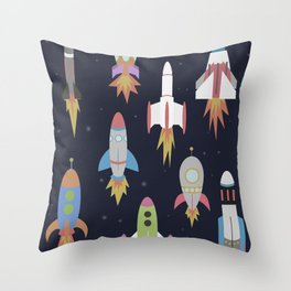 Rockets! Throw Pillow