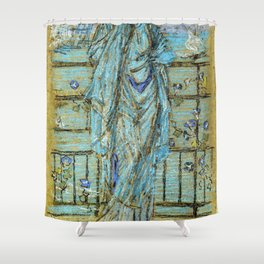 Morning Glories By James Mcneill Whistler | Reproduction Shower Curtain