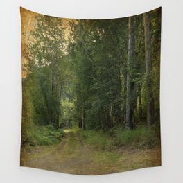 Lets Take The Road Less Traveled Wall Tapestry