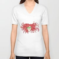 sister V-neck T-shirts featuring Sister by aHattfull
