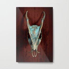 Muntjac Skull Metal Print