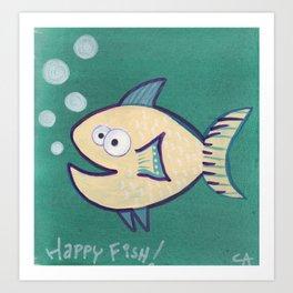 HAPPY HAPPY FISH! Art Print