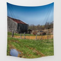 farm Wall Tapestries featuring Old Farm by Tnt intimate photo