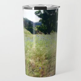 Bachelor's Button in Spring Travel Mug