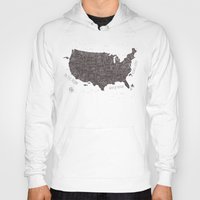 usa Hoodies featuring USA by Mike Koubou