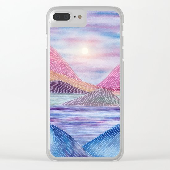Lines in the mountains XVII Clear iPhone Case