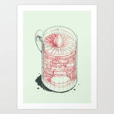 Coffee Jet Art Print