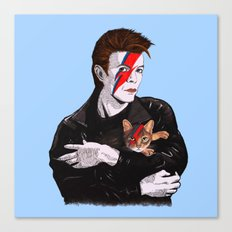 David & The cat Canvas Print