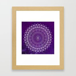 Purple Mandala Framed Art Print