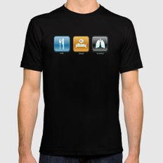 An App for That MEDIUM Mens Fitted Tee Black