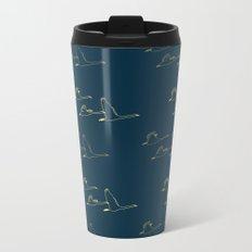 Wild Swans in Flock Metal Travel Mug