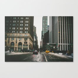Winter In the Streets Canvas Print