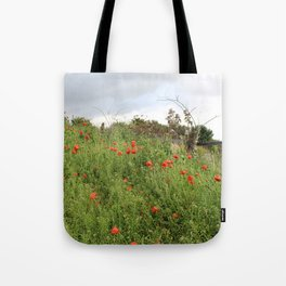 Poppies on a Hill Tote Bag