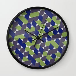 Green-Blue-Purple  Wall Clock