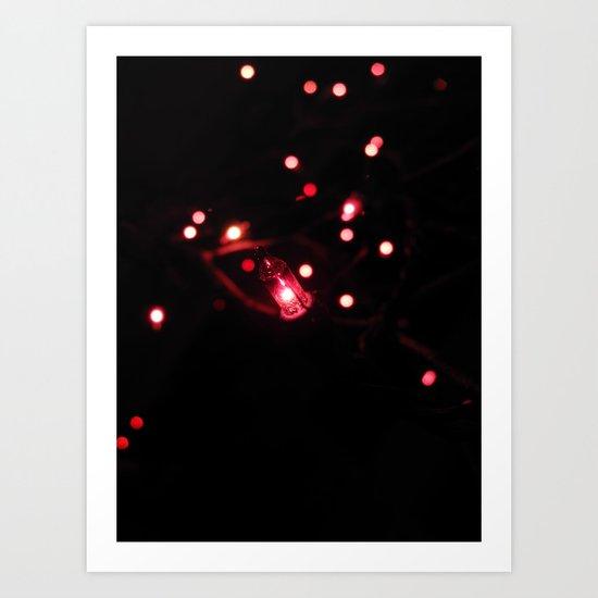 A single Christmas light Art Print