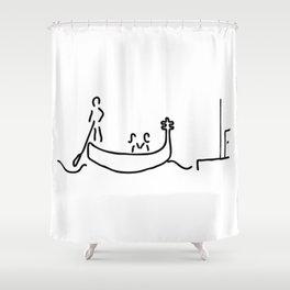 gondolier in gondola in Venice Shower Curtain