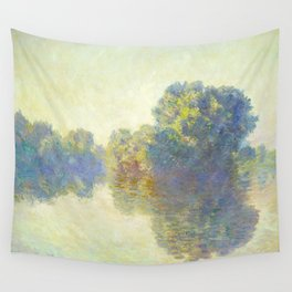 The Seine at Giverny Claude Monet 1897 Impressionist Oil Painting Nature Trees Lake Landscape Wall Tapestry