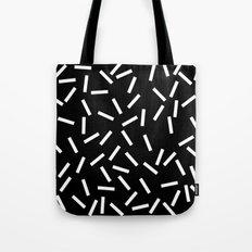 Sprinkles Black Tote Bag