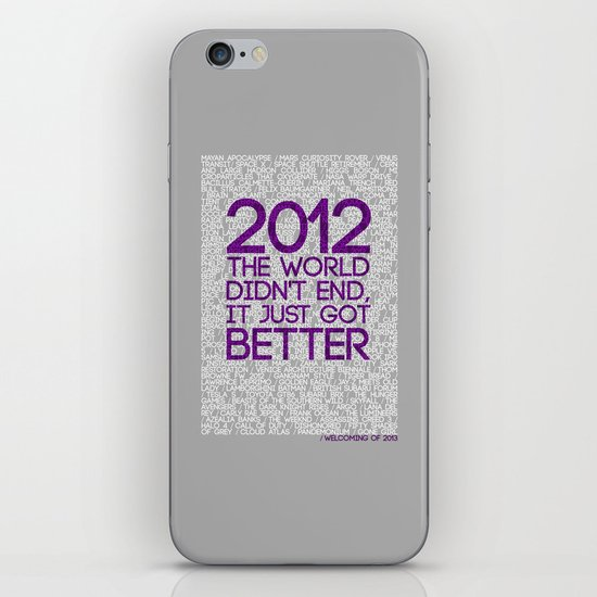 2012...It Was Emotional iPhone & iPod Skin