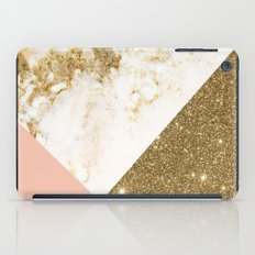 Gold marble collage iPad Case